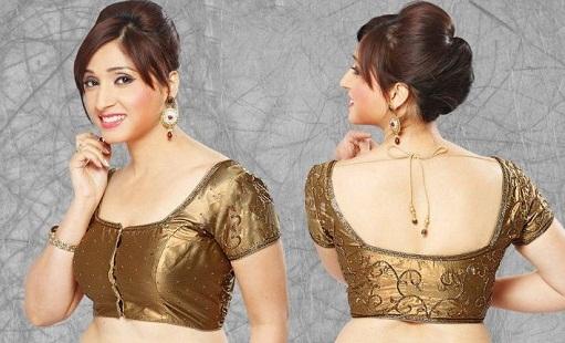Blouse front neck designs14