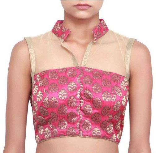 Blouse front neck designs4