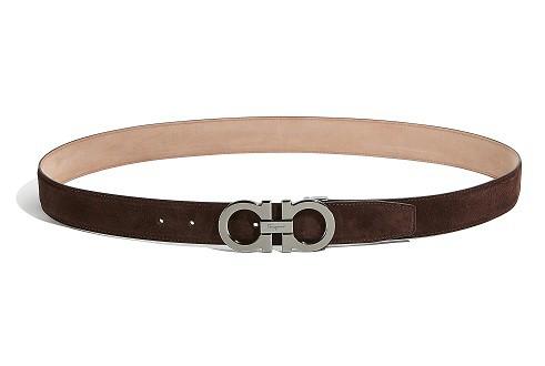Adjustable Gancini Brown Belt