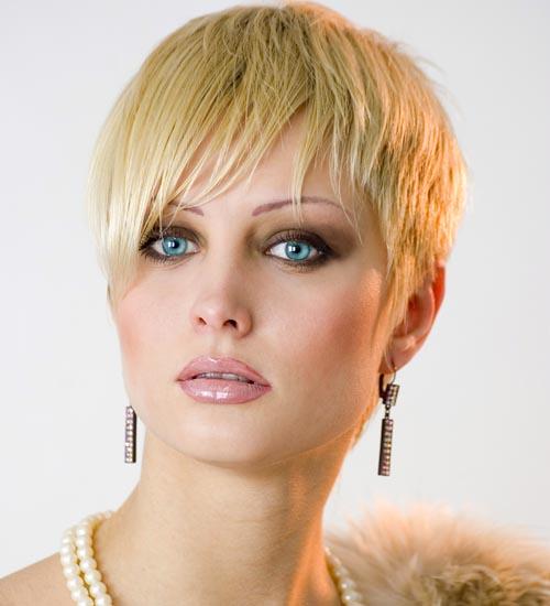 Blonde Short Pixie Haircut