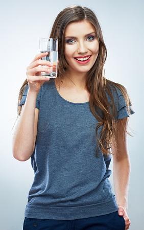 Water to get long hair