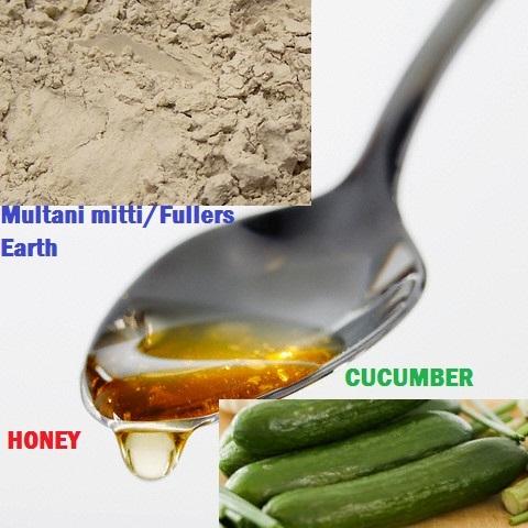 Multani mitti with Cucumber Juice