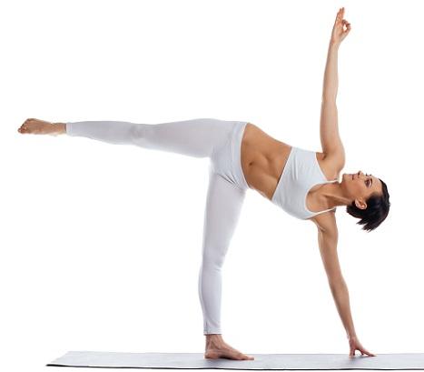 Anusara Yoga Asanas- half moon pose