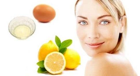 Lemon and Egg Face Mask