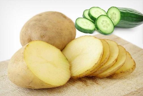 Coconut Oil, Potato, and Cucumber
