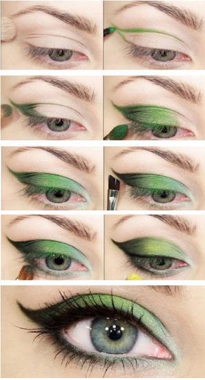 How to do Green Eye Makeup