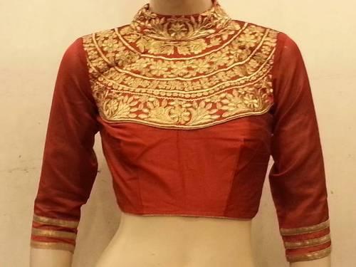 Full Neck Ornamented Blouse