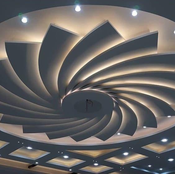 Gypsum Ceiling flower Designs