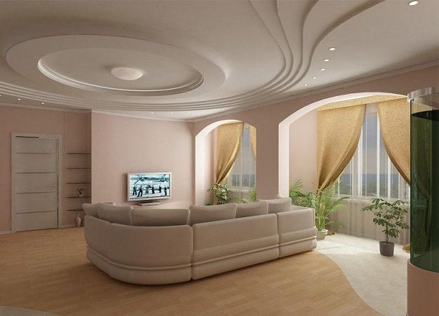 Sitting Room Gypsum Ceiling Designs