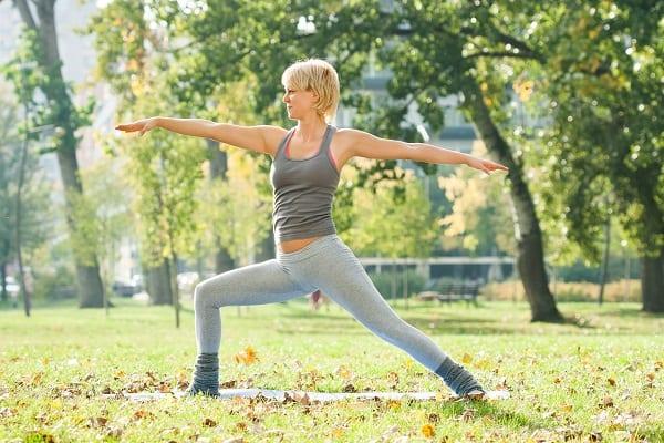 Warrior Pose Moksha Yoga