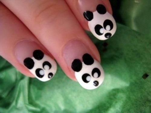 Sweet panda nail art
