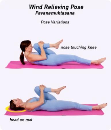 Pavanamuktasana variations