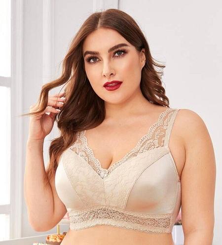 Plus Size Lace Bra