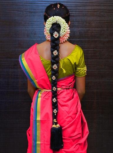 South Indian Bridal Braid