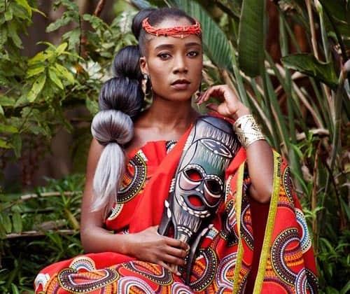 Tribal Saree Hairdo