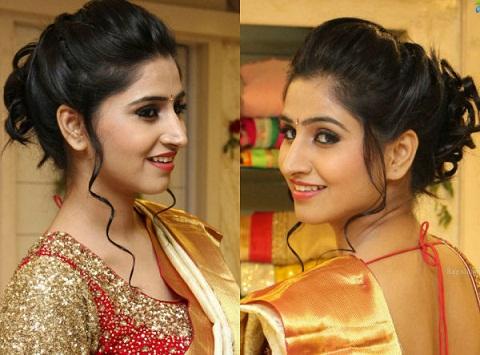 Saree hairstyles17