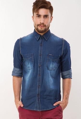 Faded Jean Shirt