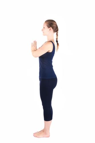 Tadasana yoga 1