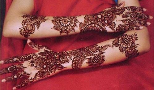 Bridal Bengali Mehndi Designs