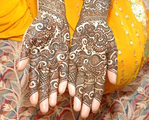 Full Hand Bengali Mehndi Design