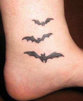 Simple and Cute Bat Tattoo