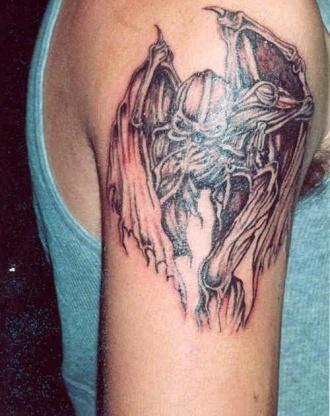 Weird Vampire Bat Tattoo Design