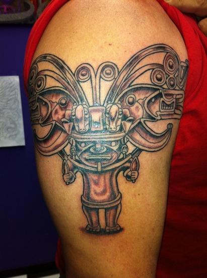 3D Bracelet Shaped Aztec Tattoo