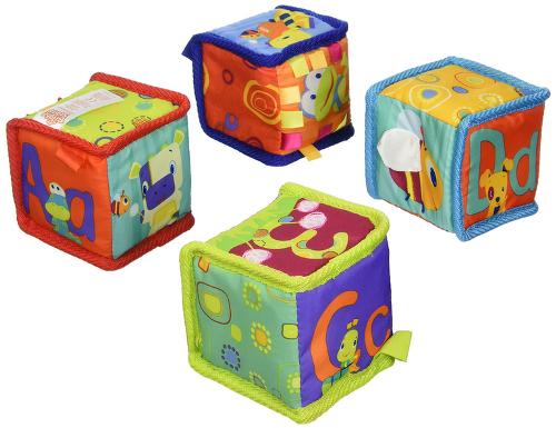 Baby Toys-Soft, Crinkly Blocks