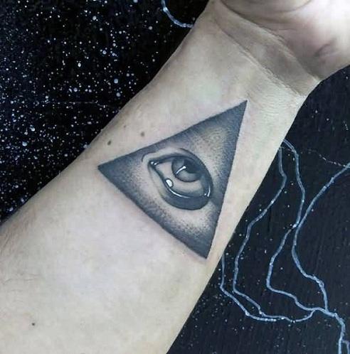abstract wrist tattoos