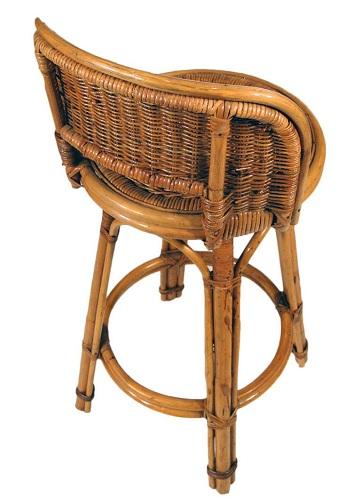 Bamboo Bar Stool with Wicker Seats