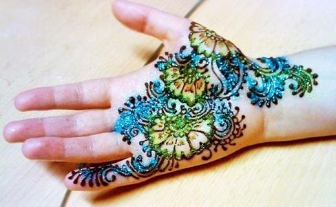 Quick Mehendi Designs-Multi Coloured Mehendi Designs