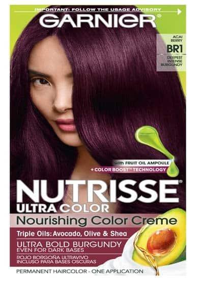 Garnier Hair Color Nutrisse Deepest Intense Burgundy