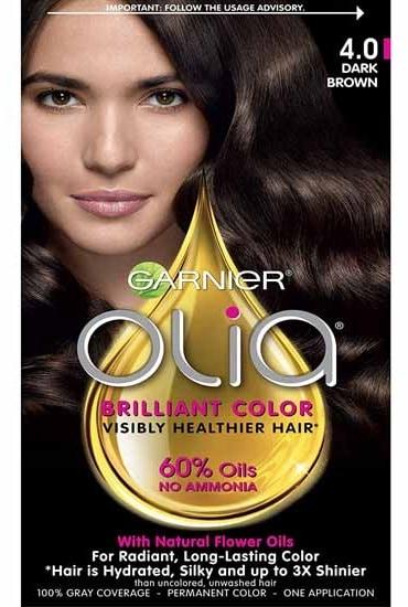 Garnier Olia Oil Powered Hair Color Dark Brown