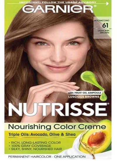Garnier Nutrisse Hair Color Light Ash Brown
