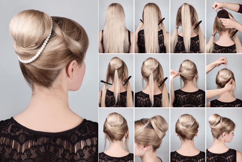 Retro Hair Bun for Gown