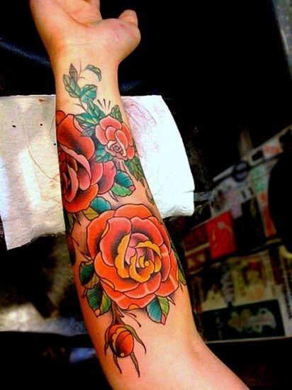 Rose Tattoo Designs 4