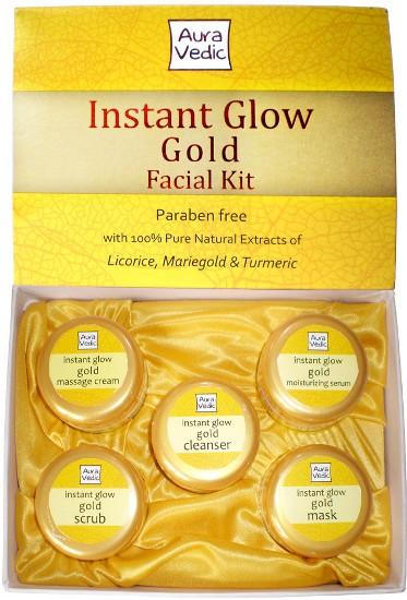 Ayurveda s instant glow gold facial kit