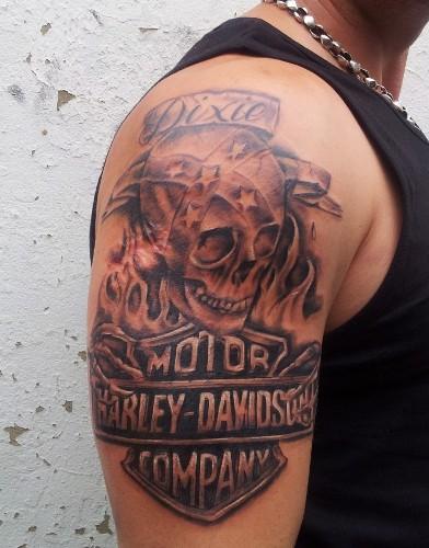 Harley Davidson tattoo 6