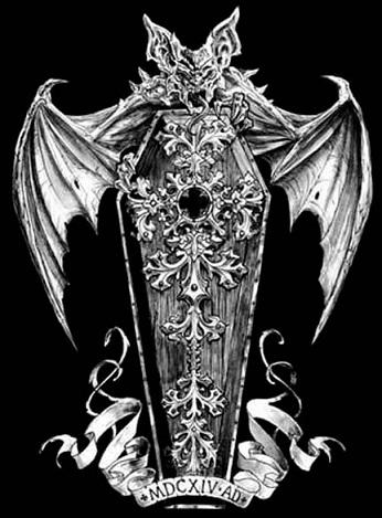 Dragon coffin tattoo