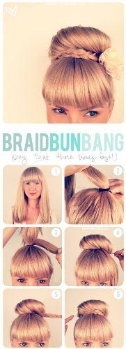 braided bun hairstyles - The Lower Braid