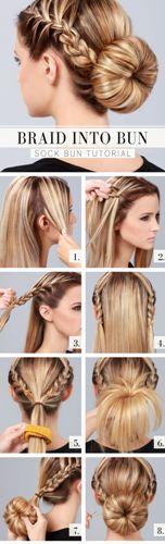 braided bun hairstyles - The Sock Braid Bun
