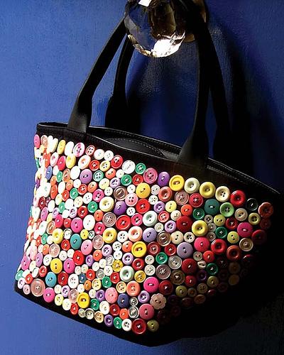 Button Bags As a Craft Idea