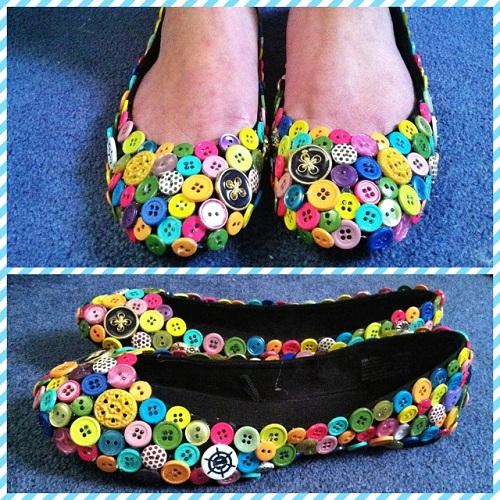 Button Footwear Craft Creativity
