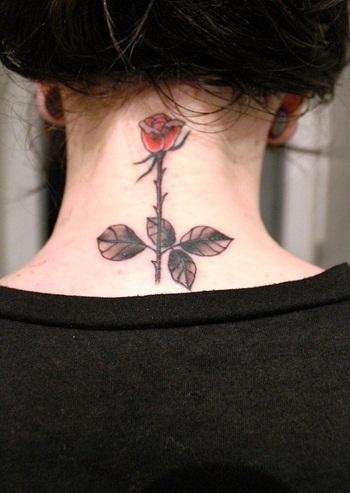 Tribal Delicate Rose Tattoo