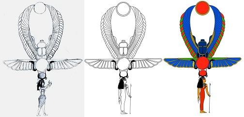 Phoenix Ankh Tattoo Design