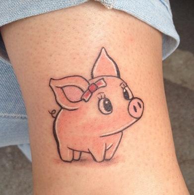Female Pig in Tattoo