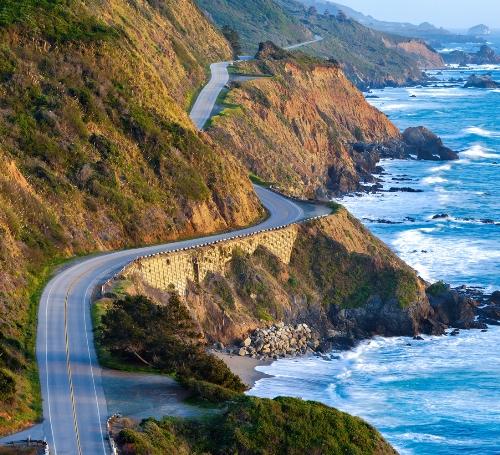 Honeymoon places in California Pacific Coast Highway