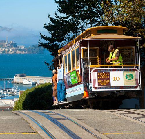 Honeymoon places in California cable car ride, San Francisco