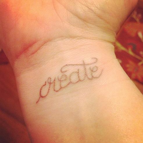 Brown Ink Wrist Special Tattoo