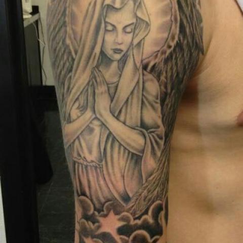 Angel Style Celestial Tattoo